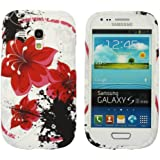 Kit Me Out FR - Samsung Galaxy S3 Mini i8190 III Android Housse / Coque / �tui de Protection en Gel TPU Oriental Fleurs