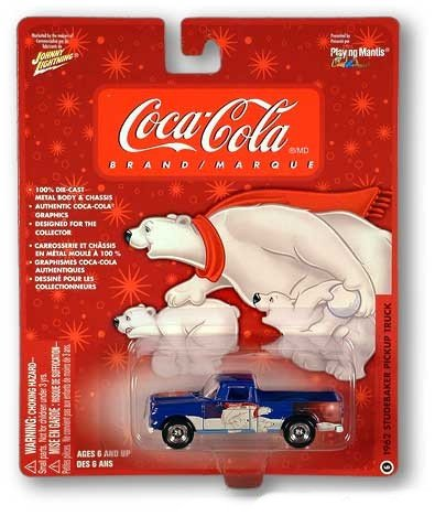 Buy Coke Coca-Cola Santa & Polar Bears Collectable Johnny Lightning Car 1962 Studebaker Pickup #6