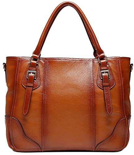 Heshe® 2015 New Fashion Lady Soft Cowhide Leather Vintage Shoulder Bag Handbag Tote Top-handle Purse Cross Body Big Capacity Casual Simple Style Hot Sell on Sale