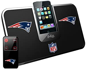 iHip Official NFL - NEW ENGLAND PATRIOTS - Portable iDock Stereo Speaker with... by iHip