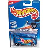 Hot Wheels - 1996 First Editions - #6 Of 12 - VW (Volkswagen) Bus - Blue Body Color W/graphics - Col