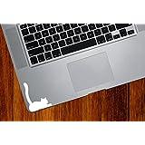 """Cat Lying Down Tail Raised - Trackpad / Keyboard - Vinyl Decal Sticker - Copyright © Yadda-Yadda Design Co. (2.5""""w x 3""""h) (WHITE)"""