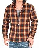 (トップイズム) TopIsm メンズファッション シャツ ワイシャツ メンズ アメカジ マドラスチェック 長袖 カジュアルシャツ n-shirt-16