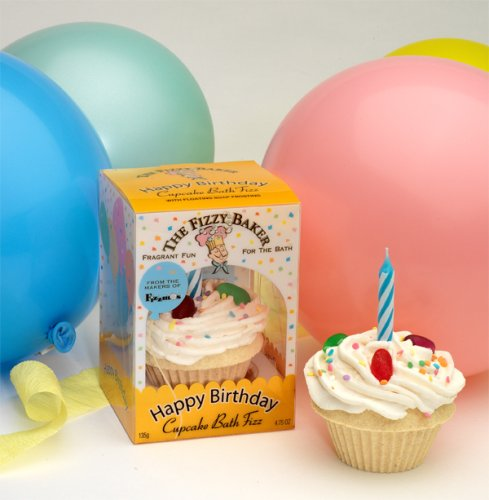 Fizzy Baker Birthday Cupcake Bath Bomb - Boxed