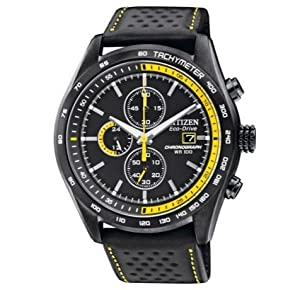 Beautiful Citizen Men's Eco-Drive Chronograph Black Sports Strap Watch