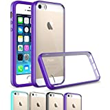 iPhone SE Case Cover, OEAGO iPhone SE Bumper [Scratch Resistant] [Ultra Hybrid Bumper Series] Shockproof Impact Resistance Case and Clear Hard Back Panel for Apple iPhone SE 4.0 inch - Purple
