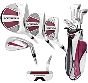 Xterra Women's Complete Golf Set (Right Hand, Ladies Flex, Driver, 3 Fairway Wood, 4/5 Hybrid, 6-PW, Putter, Bag)) by KNIGHT