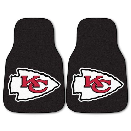FANMATS NFL Kansas City Chiefs Nylon Face Carpet Car Mat (Kansas City Chief Car Mats compare prices)