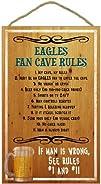 Philadelphia Eagles Fan Cave Rules Wood Sign