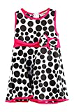 Little Girls Back To School Polka Dot Dress With Hot Pink Accents