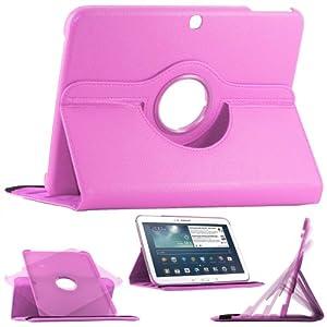 """ebestStar - Pour Tablette Samsung Galaxy TAB 3 10.1 10"""" P5200 / P5210 / P5220 / GT-P5210ZWAXEF - Housse Coque Etui en PU cuir rotatif ROTATION 360° (horizontal ou vertical) + 1 film de protection d'écran, couleur VIOLET"""