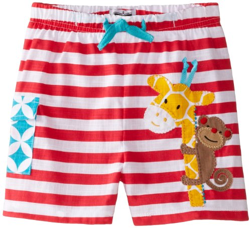 Mud Pie Baby-Boys Infant Giraffe Swim Trunks, Multi, 12-18 Months front-553288
