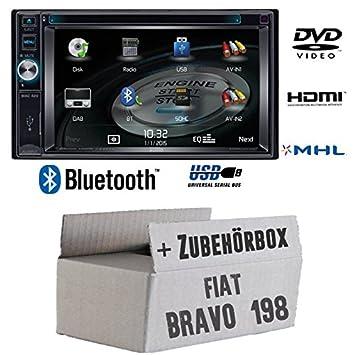 Fiat bravo 198-mAC audio mAC 420-2DIN dVD bluetooth uSB avec kit de montage