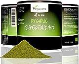 SUPERFOOD MIX normal 100 g de Vegavero, 100% BIO, CALIDAD DE LOS ALIMENTOS RAW, 15 súper diferente incl. Moringa oleífera, Matcha, hierba de trigo, cebada forrajera, vegano, la calidad 100g de Alemania