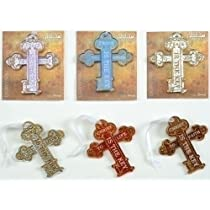 Set of 6 Inspirational Gifts Key Cross Christmas Ornaments 5