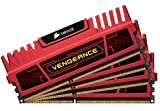 Corsair CMZ16GX3M4X2133C11R Vengeance Red Memory 16GB 1866 MHz CL11 DDR3 Quad Kit