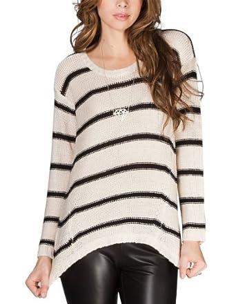 FULL TILT Striped Womens Hi Low Sweater