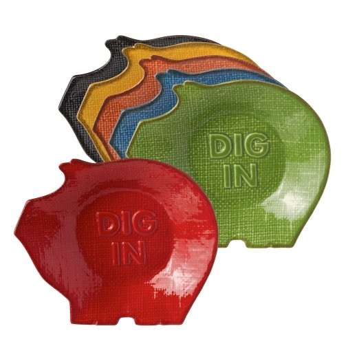Grasslands Road Pig Snack Bowl Assortment, 5-Inch, Set Of 12