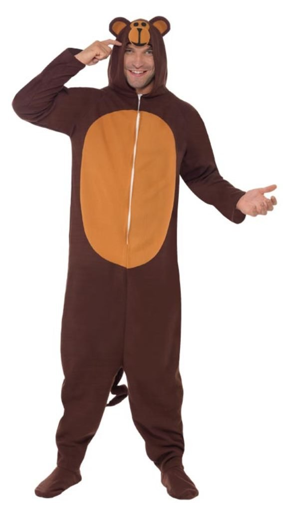 Smiffy's Men's Monkey Costume All In One with Hood