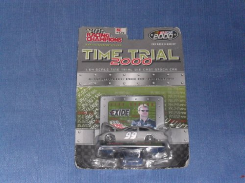 2000 NASCAR Racing Champions . . . Jeff Burton #99 Exide Time Trial 2000 1/64 Diecast . . . Hood Opens . . . Includes Display Stand and Collector's Card - 1