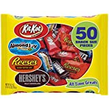 Hershey's Halloween Snack Size All Time Greats Assortment, 50-Count Bag