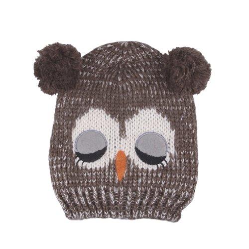 e36a8566837 Baberny 1pc Unisex Baby Warm Lovely Aminal Sleep Owl Balls Beanie ...