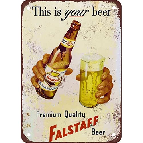 Falstaff Beer Vintage Look Reproduction Metal Sign