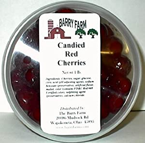 Candied Red Cherries, Whole, 1 lb.