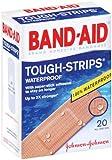 Band-Aid Tough-Strips Adhesive Bandages, Waterproof-20ct