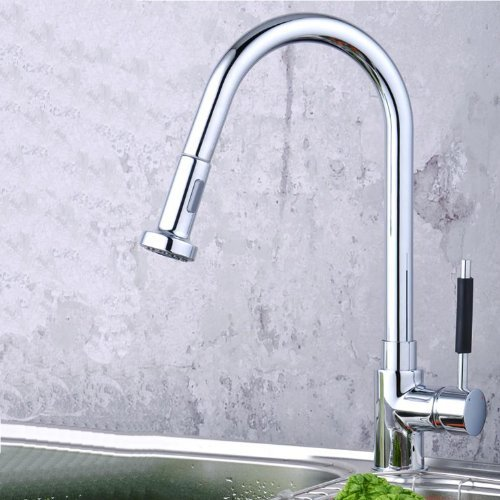 Lightinthebox Single Handle Centerset Pull Out Kitchen Sink Faucet with Versatile and Swivel Sprayhead Chrome Pull Down Kitchen Sink Faucet with Sprayer Unique Desinger Vanity Cooper Basin Drain (Delta Grant Kitchen Faucet compare prices)