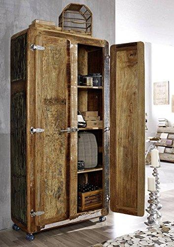 Bois vieux fer massivmöbel armoire de style industriel en bois massif laqué meuble freezy#38