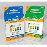 Puna Diagnostic Ph Test Strips - Get Results in 15 Seconds - Universal Ph 4.5 - Ph 9.0 - 100ct -2 pack (200 Strips)