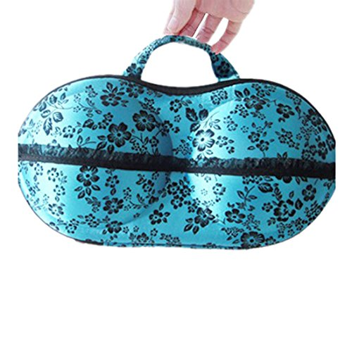 Meily(TM) New Floral Protect Bra Underwear Lingerie Case Travel Bag Storage Box