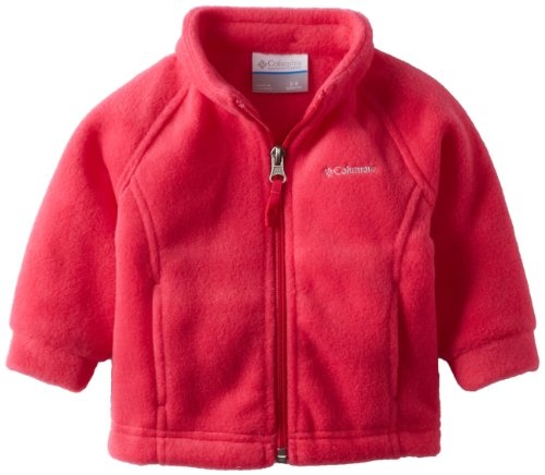 Columbia Baby Girls' Benton Springs Fleece Jacket, Bright Rose, 6-12 Months