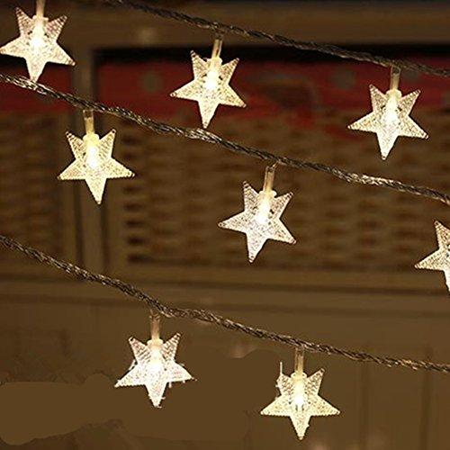 AKSSWEET 10M 100球 防水LED 星 LEDイルミネーションライト 結婚式、ホームパーティー お誕生日パーティー クリスマスなどに最適 電飾 (シャンパンゴールド)