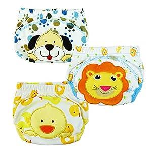3pcs los pantalones del entrenamiento del bebé orinal higiénico para la muchacha del muchacho infantil Niños con 3 capas (Tamaño: M / 80) en Bebe Hogar