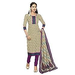 Stylish Girls Women Cotton Printed Unstitched Dress Material (SG225_purple_Free size)