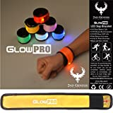 GlowPRO LED Slap Bracelet - Santa Claus Loves these Stocking Stuffer Christmas Gifts. Glow in the Dark Night Safety Armband improves night vision and Keeps Kids Safe and Happy at Night - YELLOW
