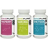 Pure Raspberry Ketones, Garcinia Cambogia & Detox DX-10® Colon Cleanse Diet Pills, Weight Loss Multi-Saver Trio Pack | 1 Month Supply | Innopure®