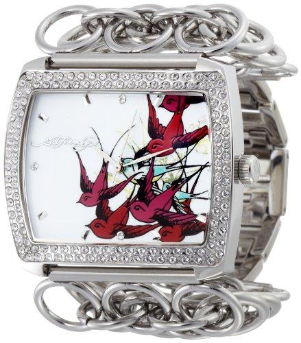 Ed Hardy Women's LI-BR Lilly Bird Watch