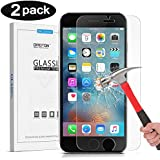 [0.2mm] IPhone 6S Plus Screen Protector, OMOTON [3D Touch Compatible - Tempered Glass] Screen Protector With [9H Hardness] [Premium Clarity] [Scratch-Resistant] For Apple IPhone 6S Plus 5.5 Inch