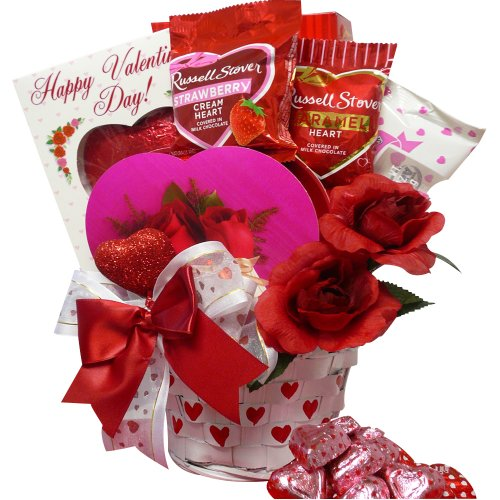 Heart To Heart Valentines Day Gift Basket of Chocolate