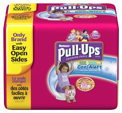 Huggies Pull-Ups Training Pants with Cool Alert Wetness Liner, Girls, 2T-3T, 58 Count