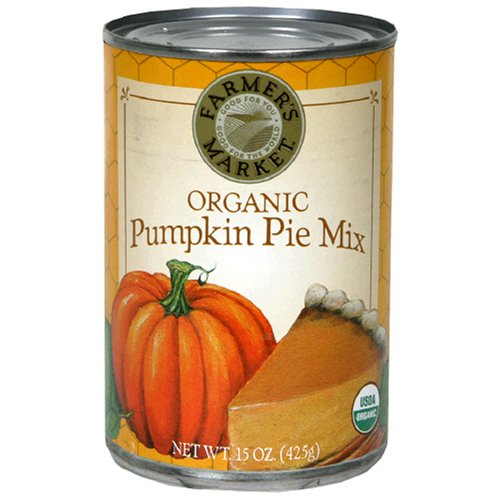 Farmer's Market Foods, Organic Canned Pumpkin Pie Mix, 15-Ounce Cans (Pack of 12)