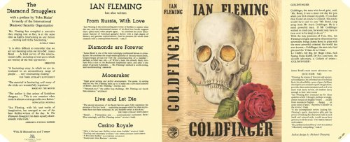 GOLDFINGER by Ian Fleming (NO BOOK IS BEING OFFERED FOR SALE HERE, THIS LISTING IS FOR THE FACSIMILE DUST JACKET ONLY!) набор bosch дрель аккумуляторная gsb 18 v ec 0 601 9e9 100 адаптер gaa 18v 24