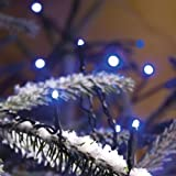 120x MICRO LED BLUE fairy lights, 8.3m, Christmas Festive - 3631-400 - made by Konstsmide