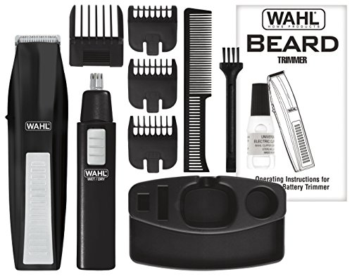 whal beard trimmer kit ear nose brow cutting grooming cordless battery combs ebay. Black Bedroom Furniture Sets. Home Design Ideas