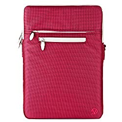 VanGoddy Hydei Crossbody Messenger Bag with Removable Shoulder Strap for 13-14in Laptops/Notebooks, Apple MacBook Pro 13in MacBook Air 13in Dell Vostro Lenovo HP ASUS 13.3in Laptop (Magenta)