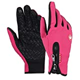 Wenseny - Mens Winter Outdoor Cycling Glove Touchscreen Gloves for Smart Phone pink-M