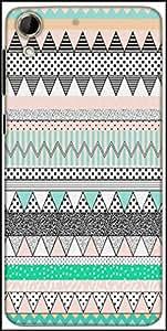 Snoogg Polka Wave Aztec Designer Protective Back Case Cover For HTC Desire 728